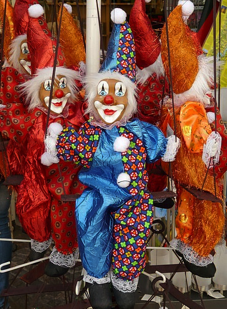 Clowns Jokers Toys Dolls Dying Of The Light Colorf