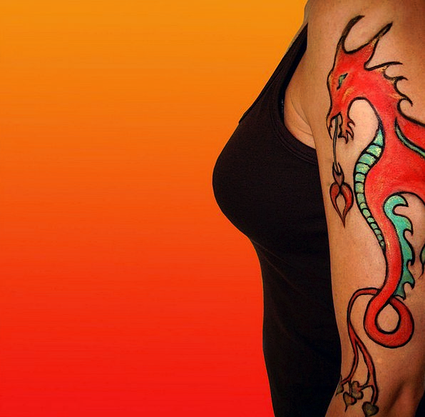 Tattoo Signal Provisional Dragon Temporary Arm Sup
