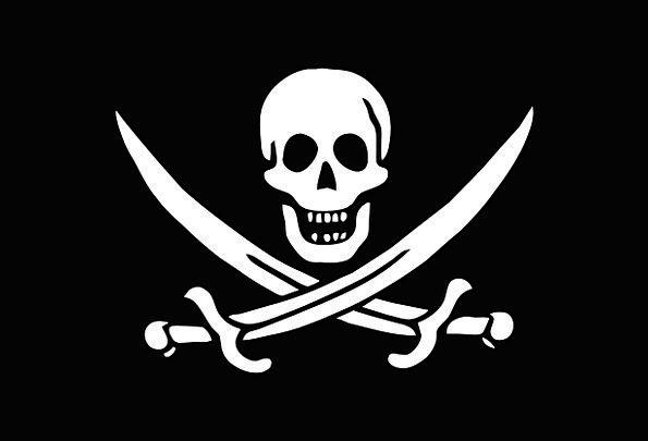 Flag Standard Buccaneers Logo Symbol Pirates Skull