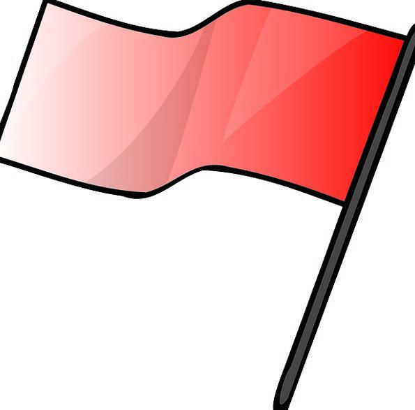 Red Bloodshot Standard Signal Sign Flag Stop Alert