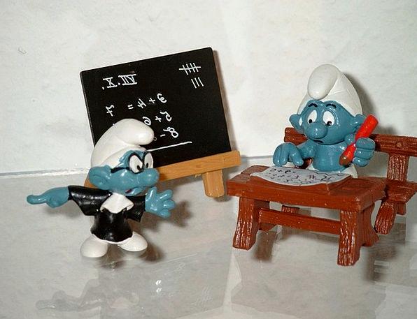 Smurfs University Teacher Educator School Students