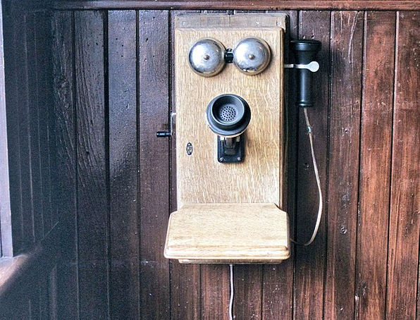 Old Wall Crank Telephone Phone Antique Old Telepho