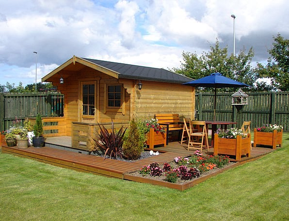 Wendy House Hitting Flowers Plants Decking Grass L