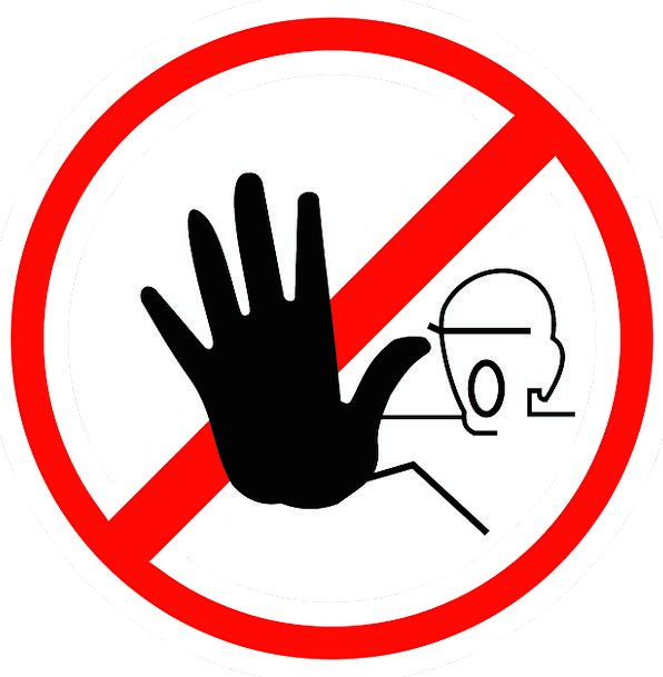 Sign Halt Stop Round Warning Cautionary Red Hand Forbidden