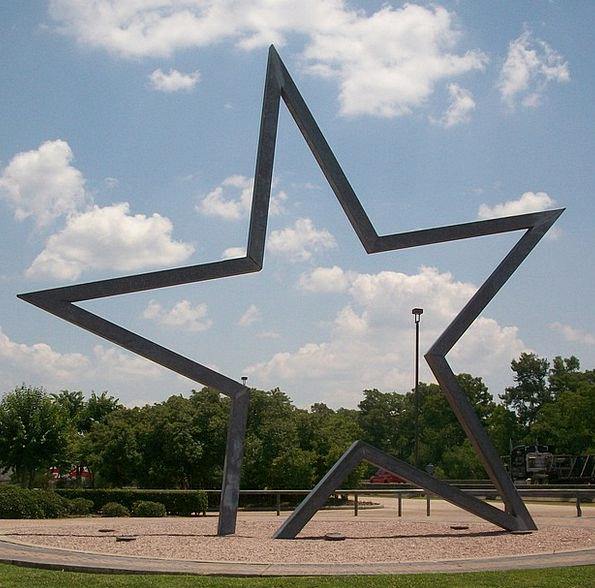 Texas Interstellar Welcome Center Star Art Paintin