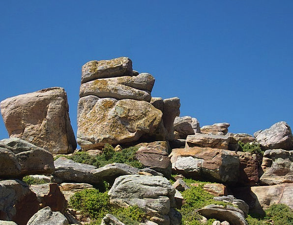 Rock Pillar Landscapes Crags Nature South Africa M