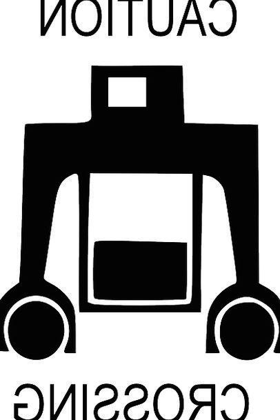 Robot Automaton Sign Android Symbol Strange Crossi
