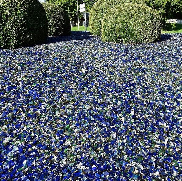 Scherbenmeer, Cut-glass, Broken Glass, Glass, Decorative, Garden, Plot,  Shiny, Green, Blue, Color, Lime, White   PixCove