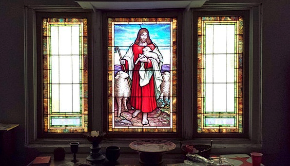 Stained Glass Light Bright Jesus