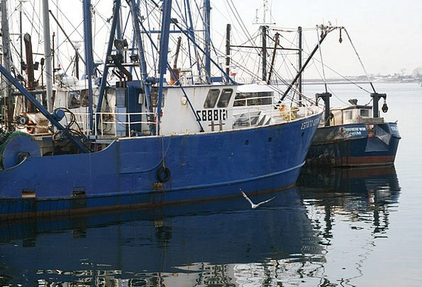 Boat Ship Angling Blue Azure Fishing Lobster Sea M