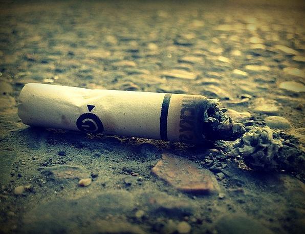 Cigarette Butt Roll-ups Smoking Burning Cigarettes
