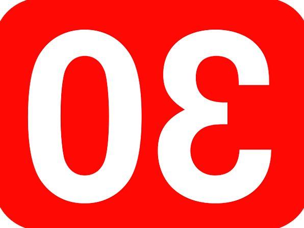 Rectangle Box Round 30 Rounded Number Amount Thirt