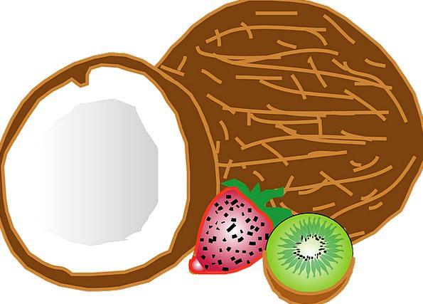 Fruit Ovary Drink Hot Food Coconut Tropical Tasty