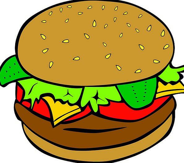 Hamburger Drink Food Lunch Eat Cheeseburger Pickle
