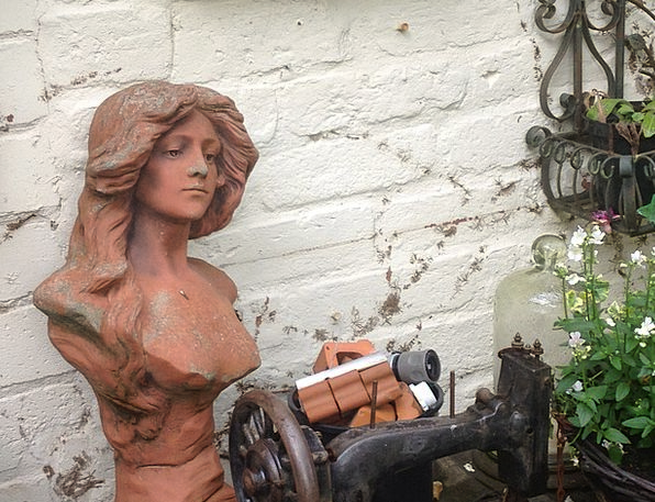 Bust Broken Fashion Earthen Beauty Terracotta Soil
