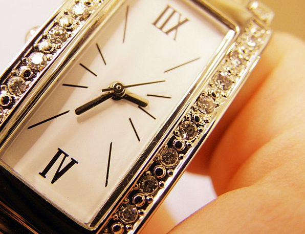 Wrist Watch Period The Hands Time Dial Knob