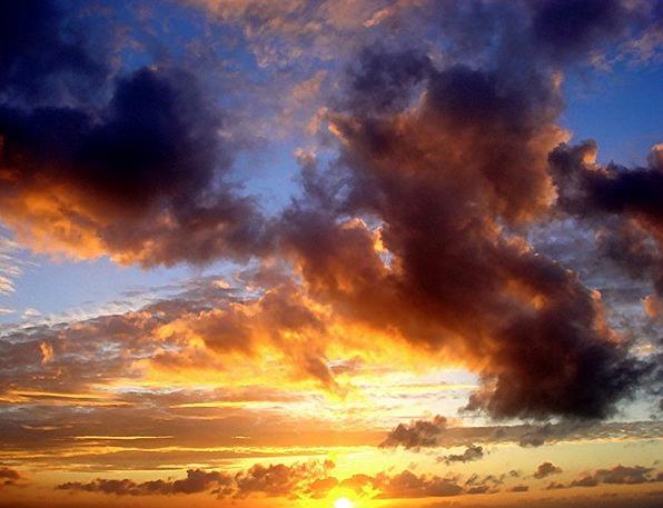Sunset Sundown Vacation Vapors Travel Sun Clouds E