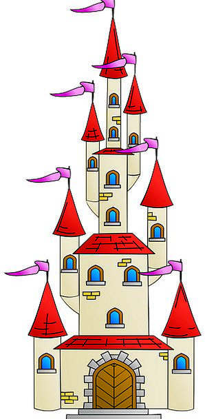 Castle Buildings Streamers Architecture Medieval F