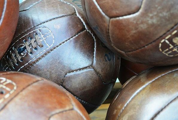 Football Ball Spheres Leather Skin Balls League Sp