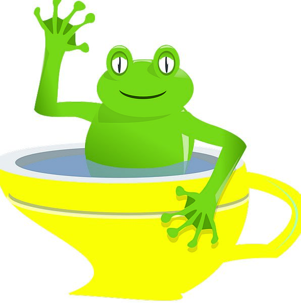Frog Waving Flapping Cup Smile Cartoon Animation Y