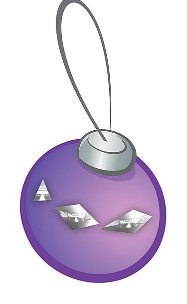 Bauble Trinket Elaborate Silver Gray Purple Decora