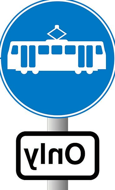 Tram Traffic Symbol Transportation Stop Halt Sign