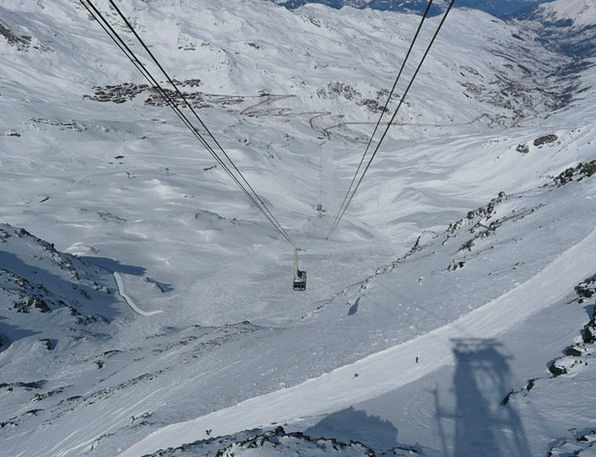 Chairlift Mountain Railway Cable Car Winter Season
