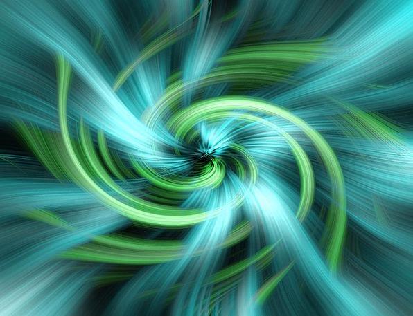 Green Lime Azure Vortex Whirlpool Blue Swirl Twirl
