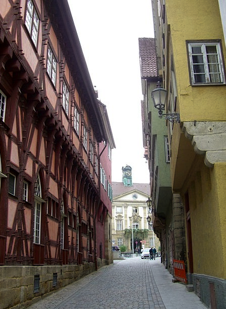 Town Hall Alley Buildings Architecture Right Old C
