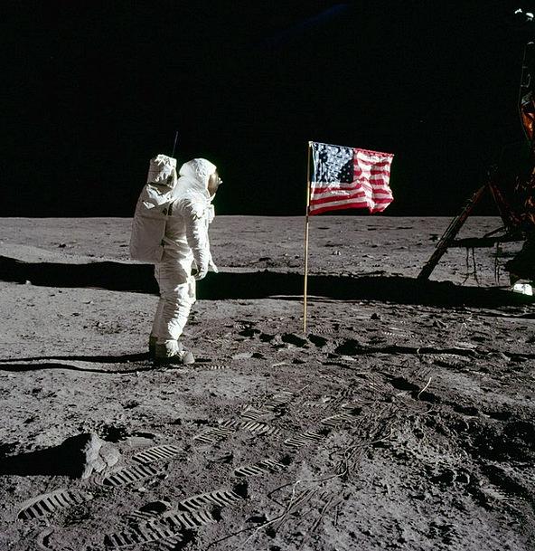 Moon Landing America Buzz Aldrin 1969 Astronaut Fl