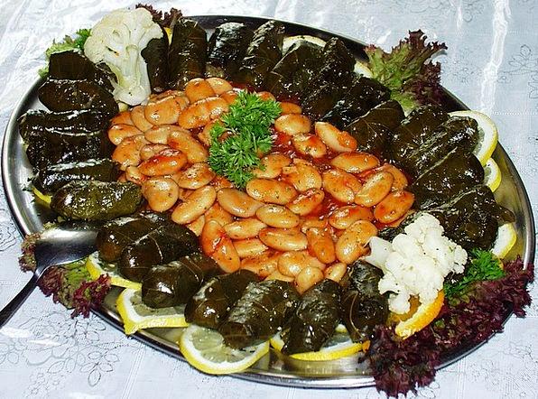 Beans Drink Food Greek Grape Leaves Leaf Food Nour