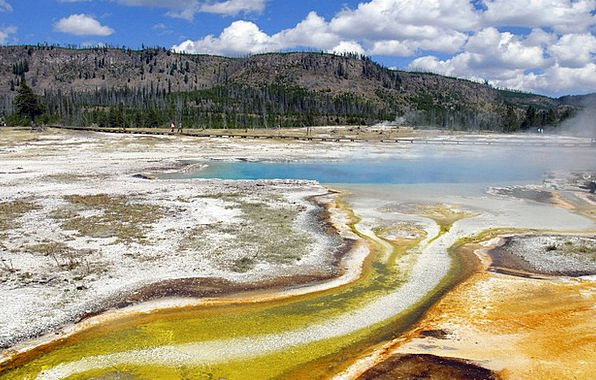 Color Hue Landscapes Nature Wyoming Yellowstone Na