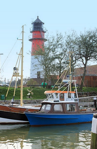 Port Harbor Boot Gumboot Lighthouse Büsum