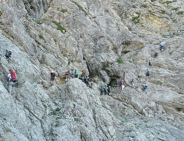 Climbing Uphill Climb Hike Salewa Klettersteig Jam