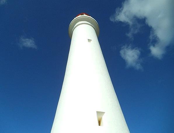 Lighthouse Blue Cloud Mist Sky