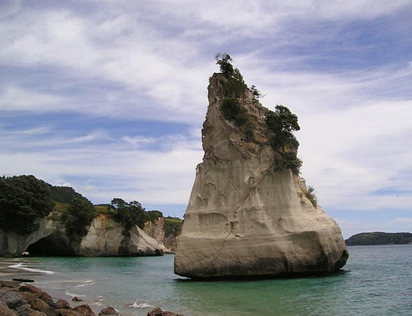 New Zealand Vacation Seashore Travel Rock Pillar B