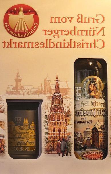 Christmas Market Mulled Wine Nuremberg Bottle Flas