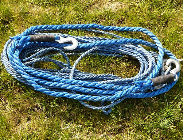 Rope Cord Chain Hook Peg Cable Blue Azure Tow Rope
