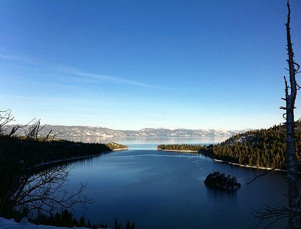 Lake Tahoe Landscapes Season Nature Water Aquatic