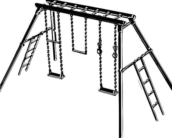 Playground Swipes Climbing Uphill Swings Bars Fram