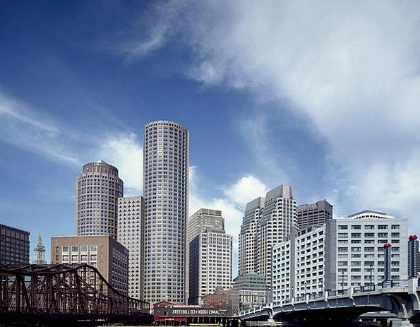 Skyline Boston Buildings Architecture Urban City M