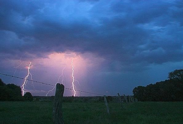 Thunderstorm Landscapes Blazes Nature Lightning We