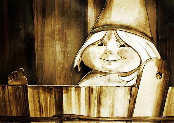 Dwarf Christmas Bathtub Bath Immersion Child Woode