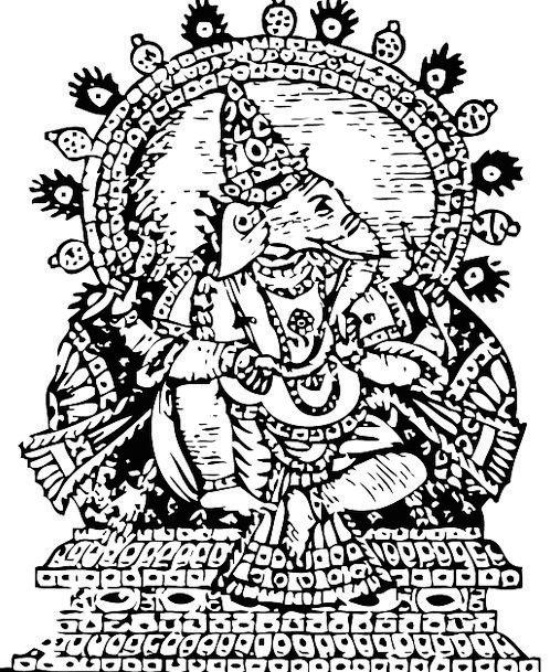Ganesha Deity Lord Noble God Religion Indian Wisdo