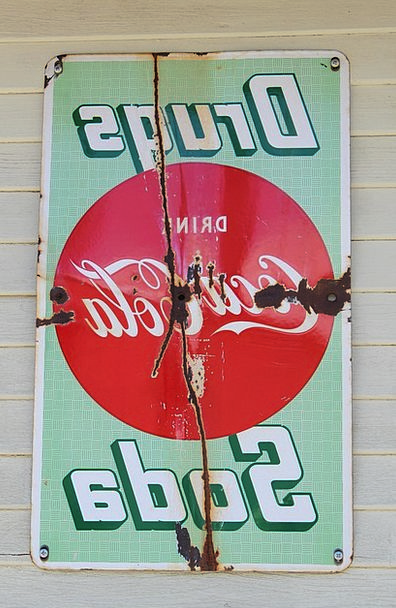 Coca Cola Ciphers Antique Old Signs Rusty Nostalgi