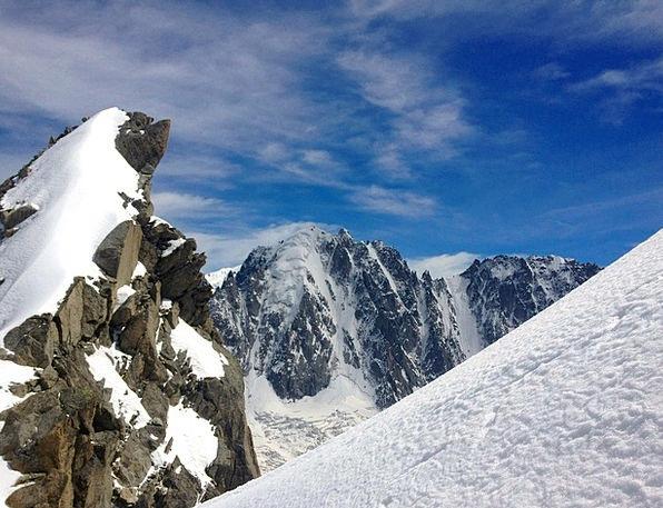 Mountain Crag Landscapes Snowflake Nature Green Ne