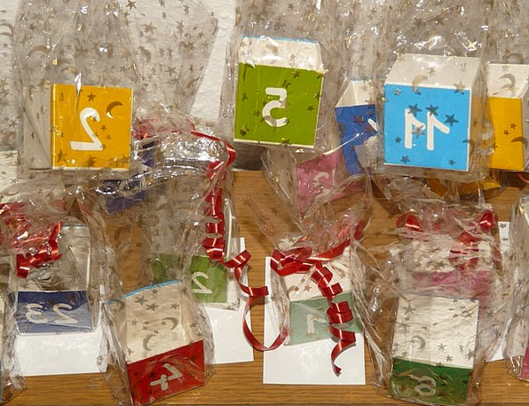 Cube Dice Amount Advent Calendar Number Advent Arr
