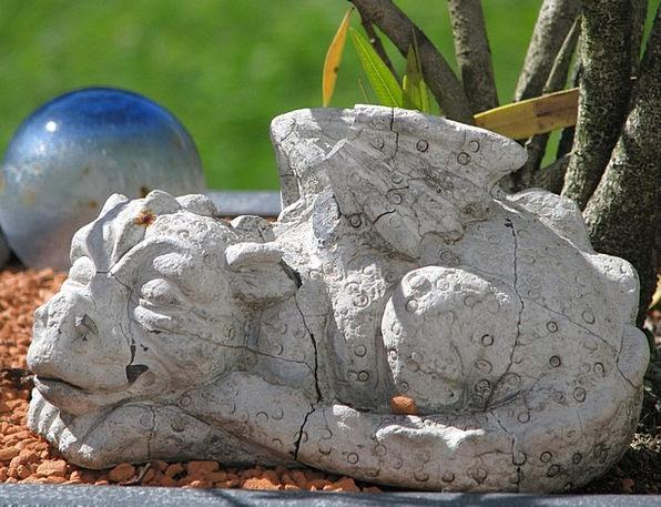 Dragon Pebble Mythical Creatures Stone Deco Fig De