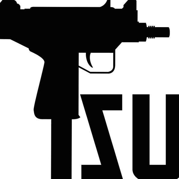 Uzi Firearm Automatic Weapon Gun Black Dark Weapon