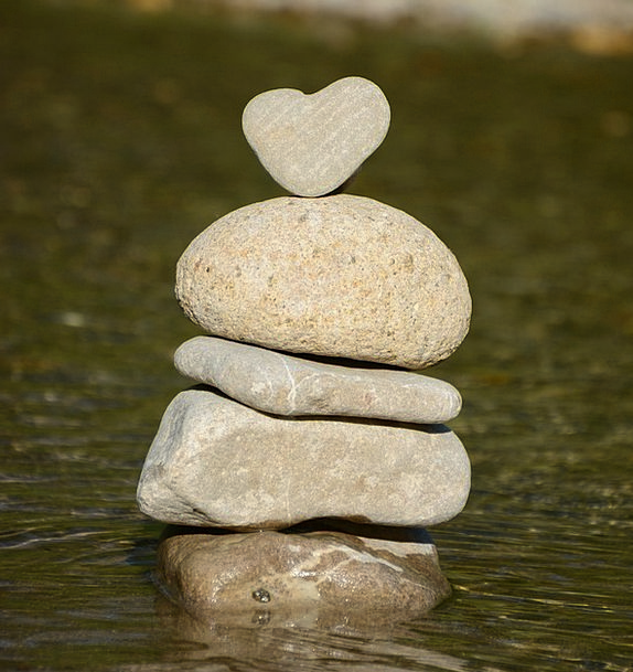 Heart Emotion Landscapes Aquatic Nature Stone Hear